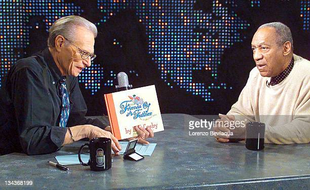 Larry King and Bill Cosby during Bill Cosby Appears on 'Larry King Live' at Larry King Live Studios in New York City New York United States
