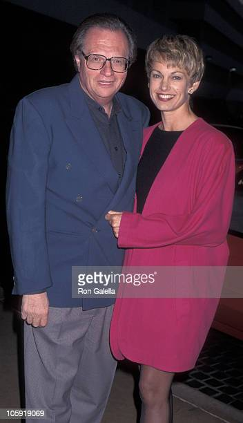 Larry King and Cyndy Garvey during Fulfillment Fund's Courage to Dream Award to Aaron and Candy Spelling at Beverly Hilton Hotel in Beverly Hills...