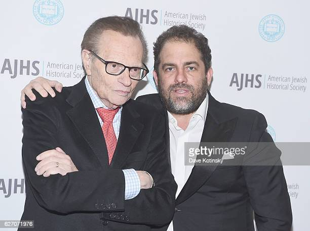 Larry King and director Brett Ratner attend the 2016 AJHS Emma Lazarus Statue Of Liberty Award Dinner - Inside at The Roosevelt Hotel on December 1,...