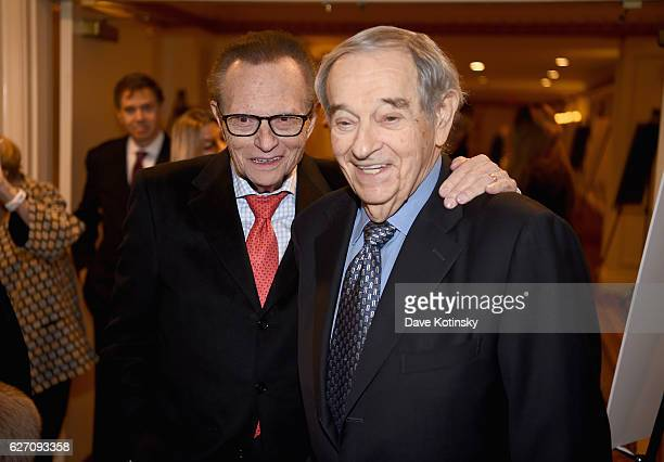 Larry King and Herb Cohen attend the 2016 AJHS Emma Lazarus Statue Of Liberty Award Dinner Inside at The Roosevelt Hotel on December 1 2016 in New...