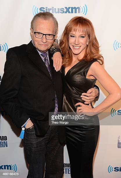 Larry King and Kathy Griffin attend Howard Stern's Birthday Bash presented by SiriusXM produced by Howard Stern Productions at Hammerstein Ballroom...