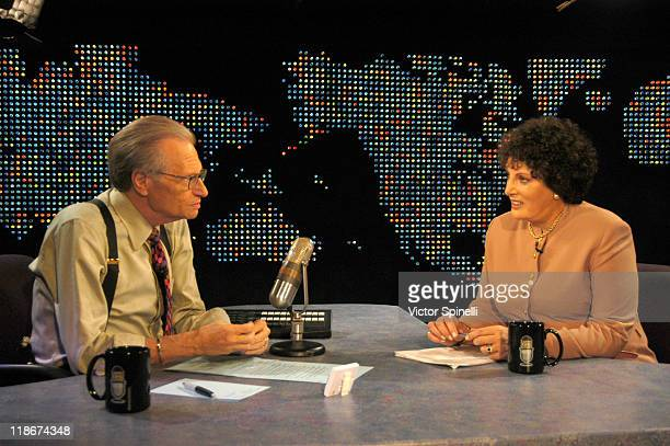 LR Larry King and Linda Tripp during Exclusive Interview with Linda Tripp and her Daughter Allison Tripp at CNN Los Angeles in Hollywood California...