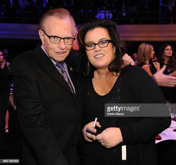 Larry King and Rosie O'Donnell attend 'Howard Stern's Birthday Bash' presented by SiriusXM produced by Howard Stern Productions at Hammerstein...