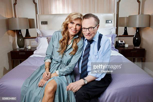 Larry King and Shawn King are photographed for Los Angeles Times on May 19 2016 in Los Angeles California PUBLISHED IMAGE CREDIT MUST READ Jay L...