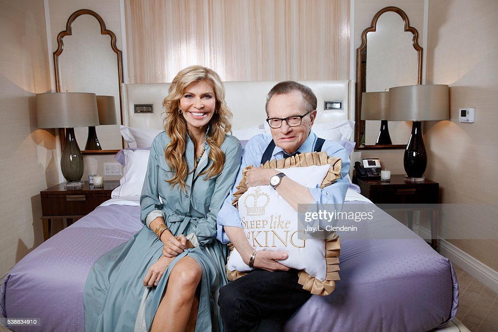 Larry King and Shawn King are photographed for Los Angeles Times on May 19, 2016 in Los Angeles, California. PUBLISHED IMAGE.