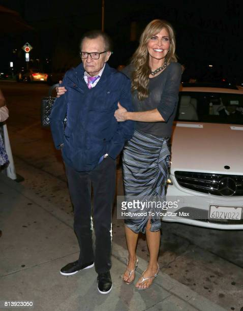 Larry King and Shawn King are seen on July 12 2017 in Los Angeles CA
