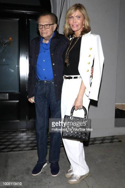 Larry King and Shawn King are seen on July 24 2018 in Los Angeles CA