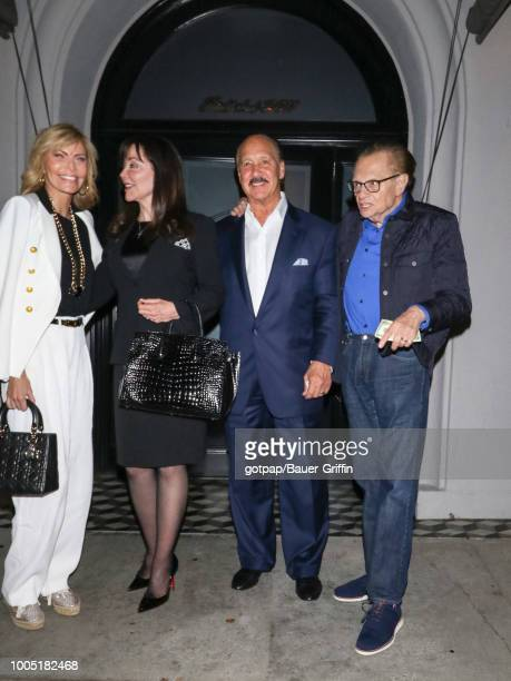 Larry King and Shawn King are seen on July 24 2018 in Los Angeles California