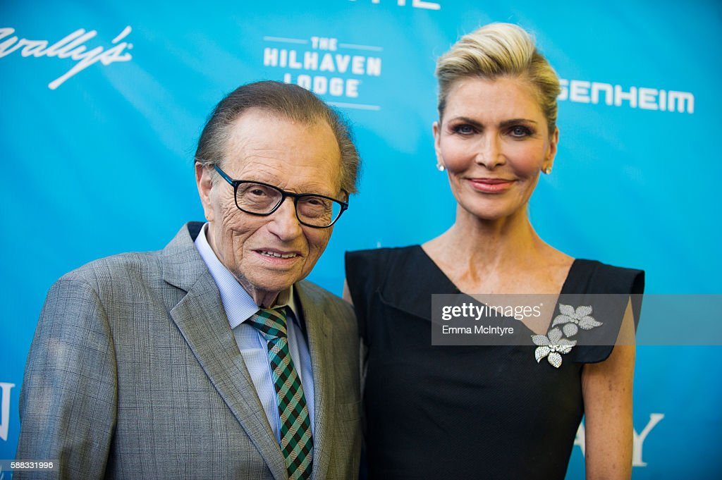 Larry King (L) and Shawn King attend at RatPac Entertainment Hosts Special Event for UN Secretary-General Ban Ki-moon at Hillhaven Lodge on August 10, 2016 in Los Angeles, California.