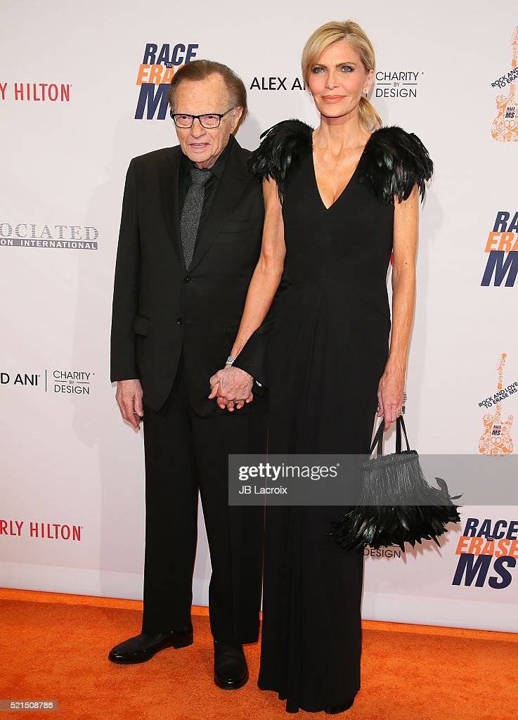 Larry King and Shawn King attend the 23rd Annual Race To Erase MS Gala at The Beverly Hilton Hotel on April 15, 2016 in Beverly Hills, California.