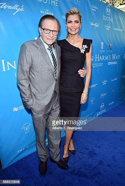 Larry King and Shawn King attend the special event for UN SecretaryGeneral Ban Kimoon hosted by Brett Ratner and David Raymond at Hilhaven Lodge on...