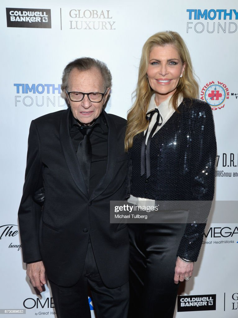 Larry King and Shawn King attends AMT's 2017 D.R.E.A.M. Gala at Montage Beverly Hills on November 11, 2017 in Beverly Hills, California.