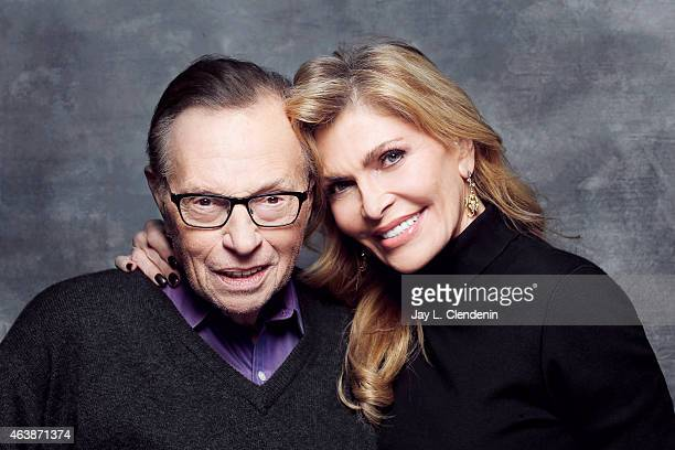 Larry King and Shawn King is photographed for Los Angeles Times at the 2015 Sundance Film Festival on January 24 2015 in Park City Utah PUBLISHED...