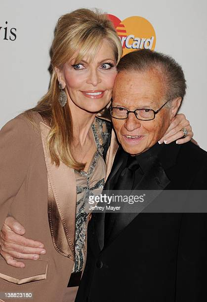 Larry King and Shawn Southwick arrive at the Clive Davis and The Recording Academy's 2012 PreGRAMMY Gala and Salute to Industry Icons Honoring...