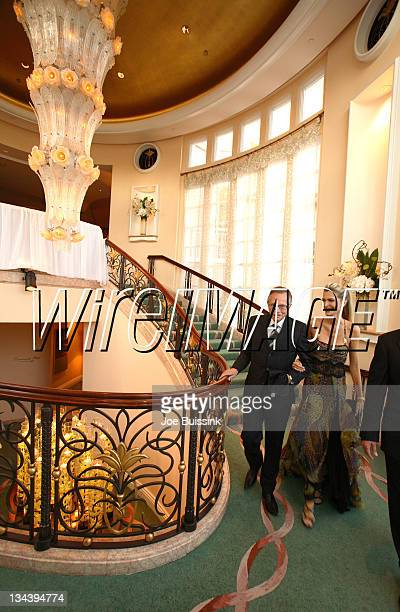 Larry King and Shawn Southwick during Dr. Phil's Son Jay McGraw and Erica Dahm Wedding Photos at Private Home in Beverly Hills, California, United...