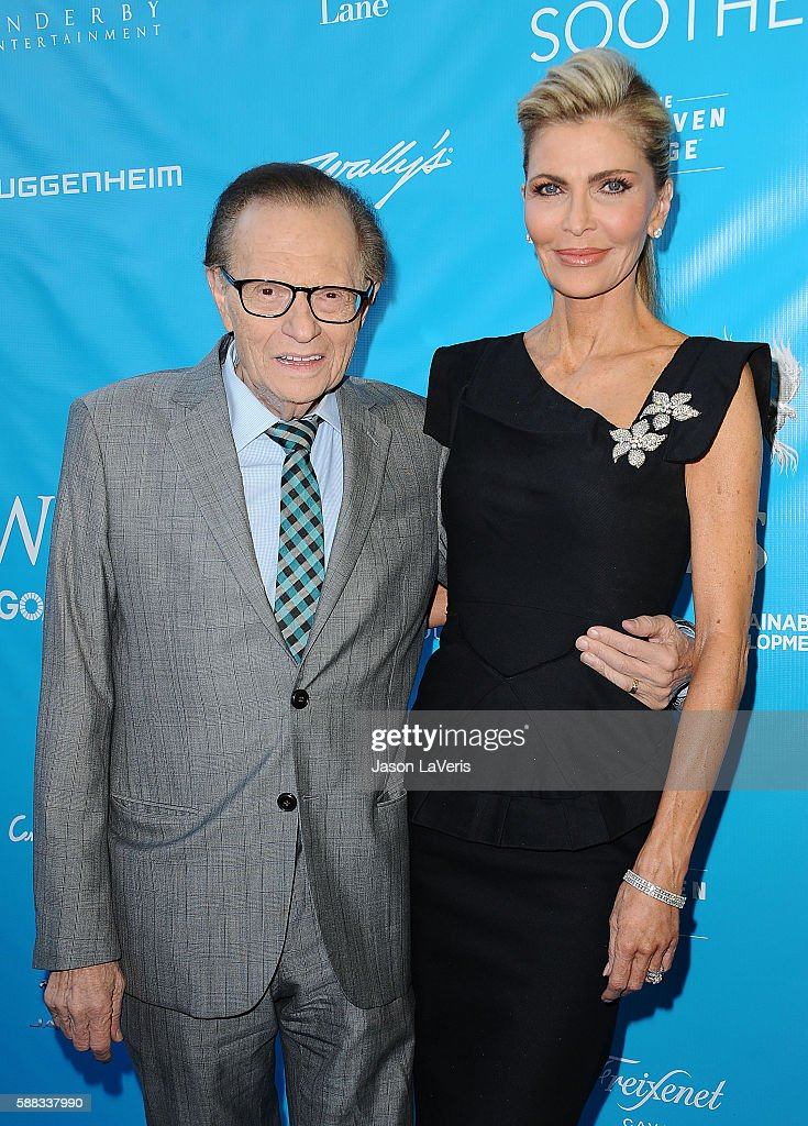 Larry King and wife Shawn King attend a special event for UN Secretary-General Ban Ki-moon on August 10, 2016 in Los Angeles, California.