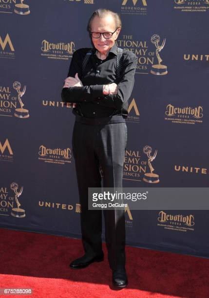 Larry King arrives at the 44th Annual Daytime Emmy Awards at Pasadena Civic Auditorium on April 30 2017 in Pasadena California