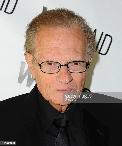 Larry King arrives at the WildAid Charity Gala on May 11 2012 in San Francisco California