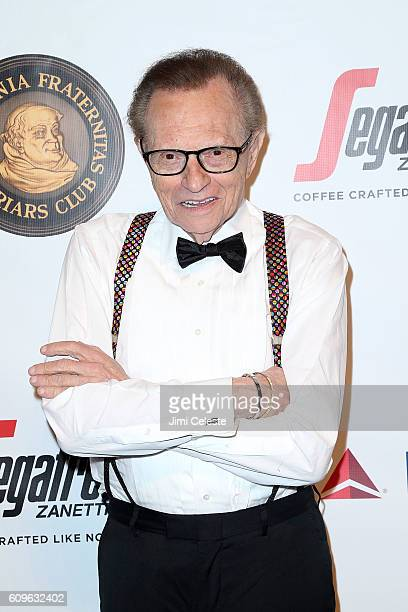 Larry King attending Friars Club Honors Martin Scorsese with Entertainment Icon Award at Cipriani Wall Street on September 21 2016 in New York City
