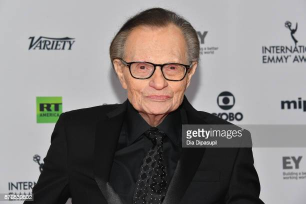 Larry King attends the 45th International Emmy Awards at New York Hilton on November 20 2017 in New York City
