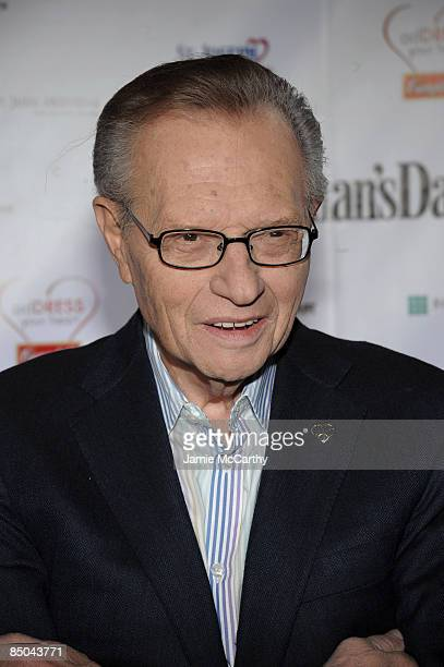 Larry King attends the 6th Annual Woman's Day Red Dress Awards at the Allen Room in Frederick P Rose Hall Jazz at Lincoln Center on February 11 2009...
