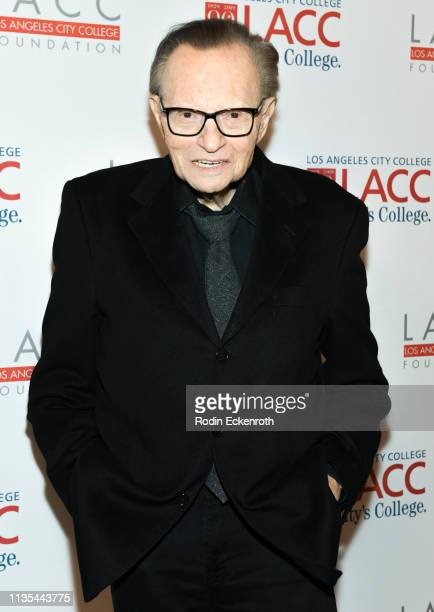Larry King attends the Los Angeles Community College 2019 Gala at Regent Beverly Wilshire Hotel on March 12, 2019 in Beverly Hills, California.