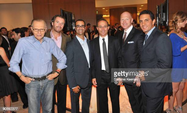 Larry King David Houck Philip Press Miki Naftali Curtis Estes and Mauricio Umansky attend The Carlyle Residences Grand Opening on September 10 2009...