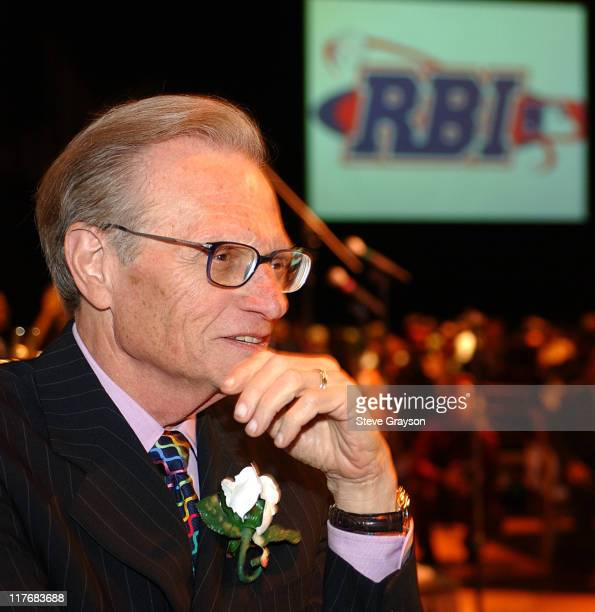 Larry King during 15th Annual RBI Hall of Fame Dinner at The Globe Theater at Universal Studios in Universal City California United States