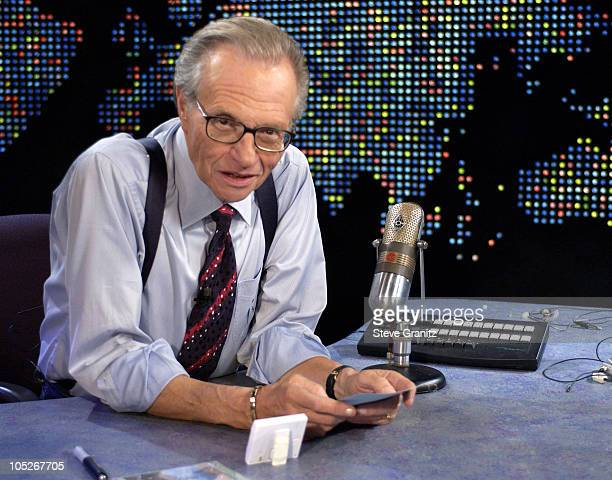 """Larry King during Bette Midler on """"Larry King Live"""" at CNN Studios in Hollywood, CA, United States."""