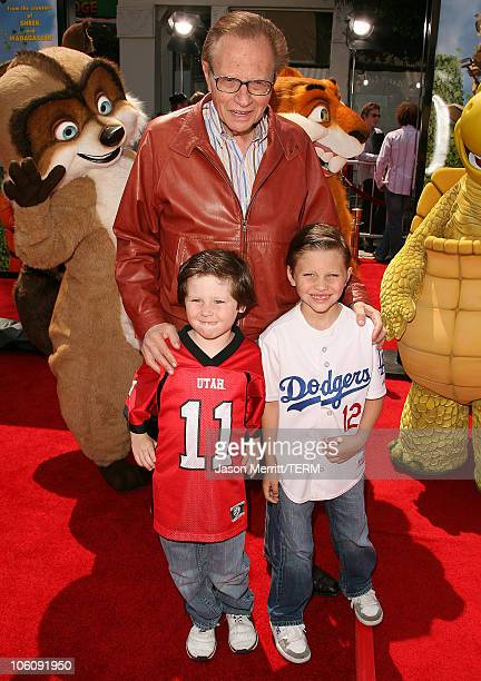 Larry King during Dreamworks' Over The Hedge Los Angeles Premiere Arrivals at Mann Village Theatre in Westwood California United States