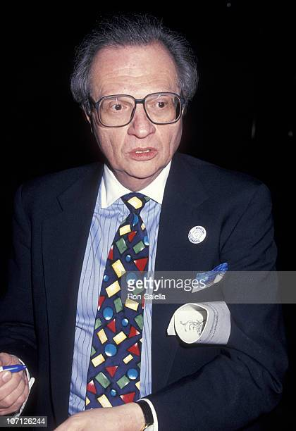 Larry King during Friars Club Roasts Whoopi Goldberg at Hilton Hotel in New York City New York United States