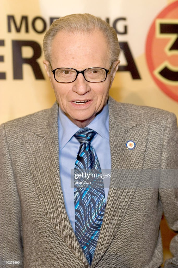 Larry King during 'Good Morning America' 30th Anniversary Celebration at Lincoln Center in New York City, New York, United States.