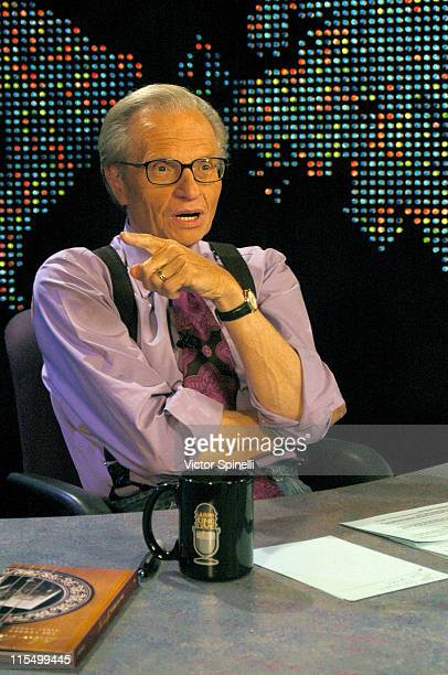 Larry King during Live Taping of 'The Larry King Show' with Rosanne Cash, John Carter Cash and Dwight Yoakam at CNN Los Angeles Bureau in Hollywood,...