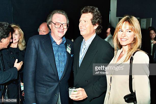 Larry King Garry Shandling and Linda Doucett during 6th Comic Relief To Benefit The Homeless at Shrine Auditorium in Los Angeles CA United States