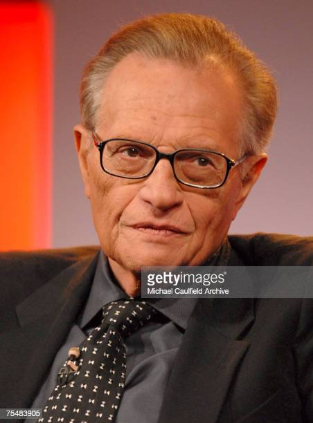 "Larry King, host of ""CNN's Larry King Live"" 12808_200.jpg at the Ritz Carlton in Pasadena, California"