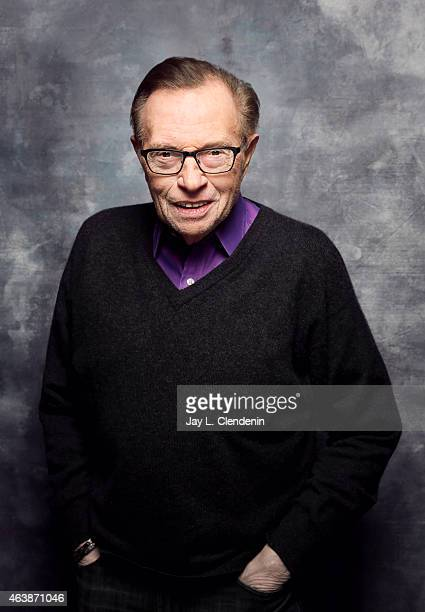 Larry King is photographed for Los Angeles Times at the 2015 Sundance Film Festival on January 24 2015 in Park City Utah PUBLISHED IMAGE CREDIT MUST...