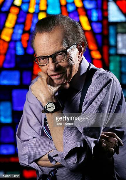 Larry King is photographed for Los Angeles Times on May 9 2016 in Los Angeles California PUBLISHED IMAGE CREDIT MUST READ Rick Loomis/Los Angeles...