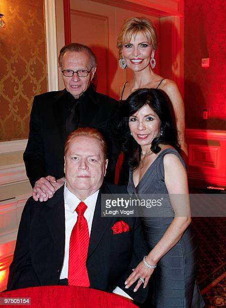 Larry King Shawn Southwick King and Larry Flynt'Althea Flynt attend the 2010 An Evening with Larry King and Friends Gala at the RitzCarlton Hotel on...