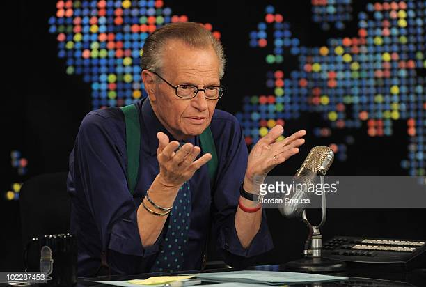 Larry King speaks during Larry King Live: Disaster in the Gulf Telethon held at CNN LA on June 21, 2010 in Los Angeles, California. 20096_003_0097.JPG