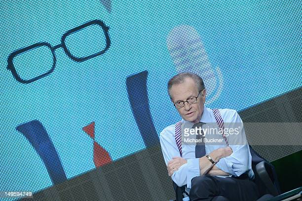 Larry King speaks onstage during HULU Presents Original and Exclusive Series at 2012 TCA Summer Press Tour at The Beverly Hilton Hotel on July 31...