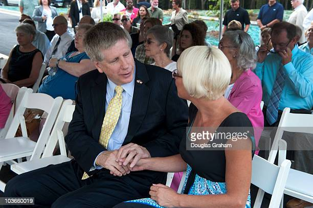 Larry Kissell DNC and democratic candidate for US Representative from North Carolina's 8th District greets constituents at a grand opening of town...