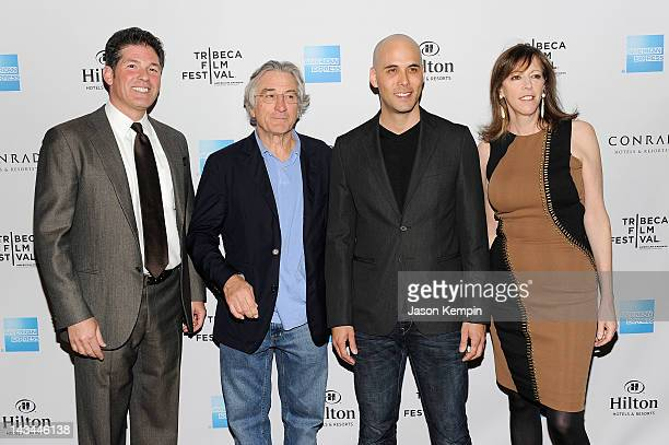 Larry Korman Robert De Niro Kim Nguyen and Jane Rosenthal attend the Tribeca Film Festival Awards party at Conrad New York on April 26 2012 in New...