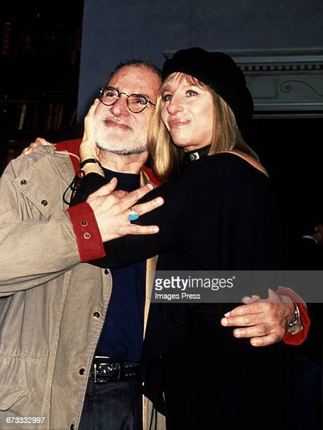 Larry Kramer and Barbra Streisand at a special reading of The Normal Heart circa 1993 in New York City