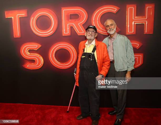 Larry Kramer and David Webster attend the Broadway Opening Night of Torch Song at the Hayes Theater on Noveber 1 2018 in New York City