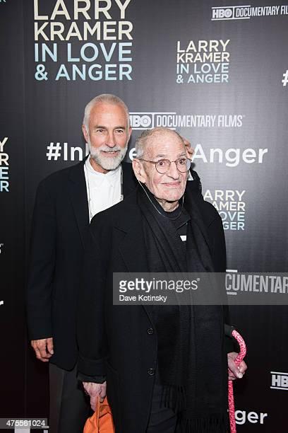 Larry Kramer and David Webster attend the Larry Kramer In Love And Anger New York Premiere at Time Warner Center on June 1 2015 in New York City