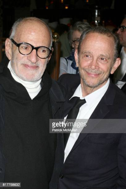 Larry Kramer and Joel Grey attend The 25th Anniversary Benefit Stages Reading of 'THE NORMAL HEART' at Walter Kerr Theatre on October 18 2010 in New...