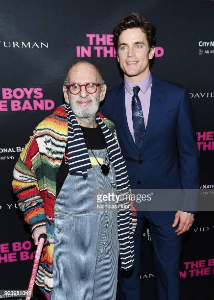 Larry Kramer and Matt Bomer attend the Boys In The Band 50th Anniversary Celebration at The Second Floor NYC on May 30 2018 in New York City