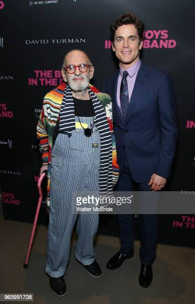 Larry Kramer and Matt Bomer attend 'The Boys In The Band' 50th Anniversary Celebration at The Second Floor NYC on May 30 2018 in New York City