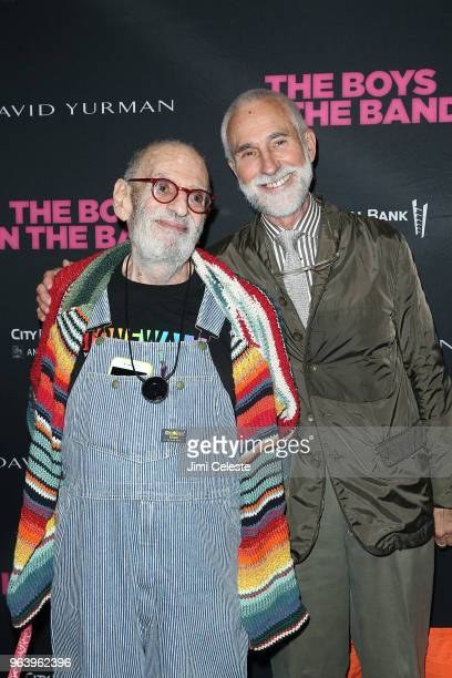 Larry Kramer and William David Webster attend The Boys in the Band 50th Anniversary Celebration at Booth Theatre on May 30 2018 in New York City