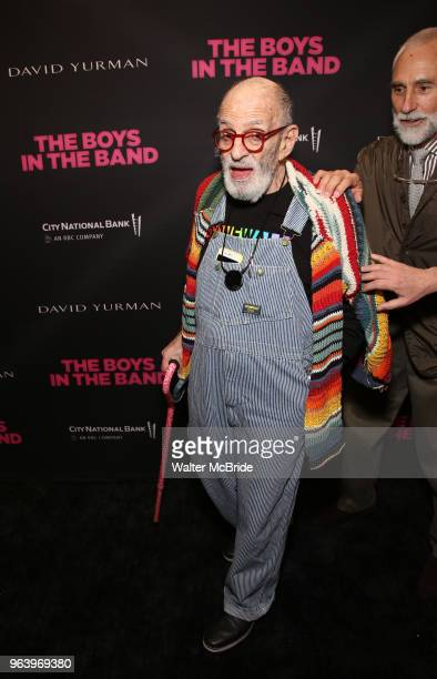 Larry Kramer and William David Webster attend 'The Boys in the Band' 50th Anniversary Celebration at The Booth Theatre on May 30 2018 in New York City